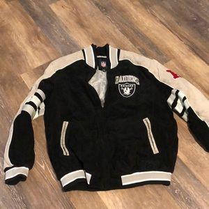 Black & Gray suede LA Raiders Jacket 2XXL/tall